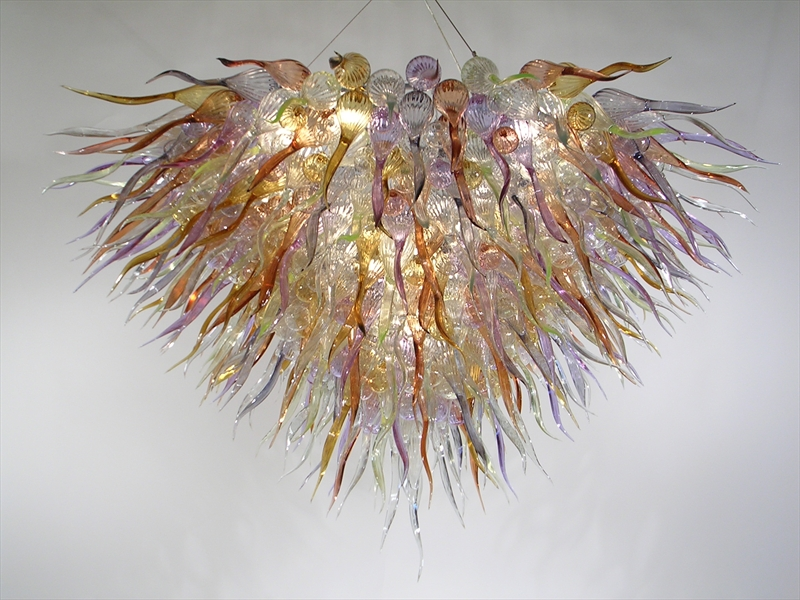 Graceful Contemporary Luxury Chandeliers LED Bulbs Colorful Hand Blown Murano Glass 110/120/220/240V