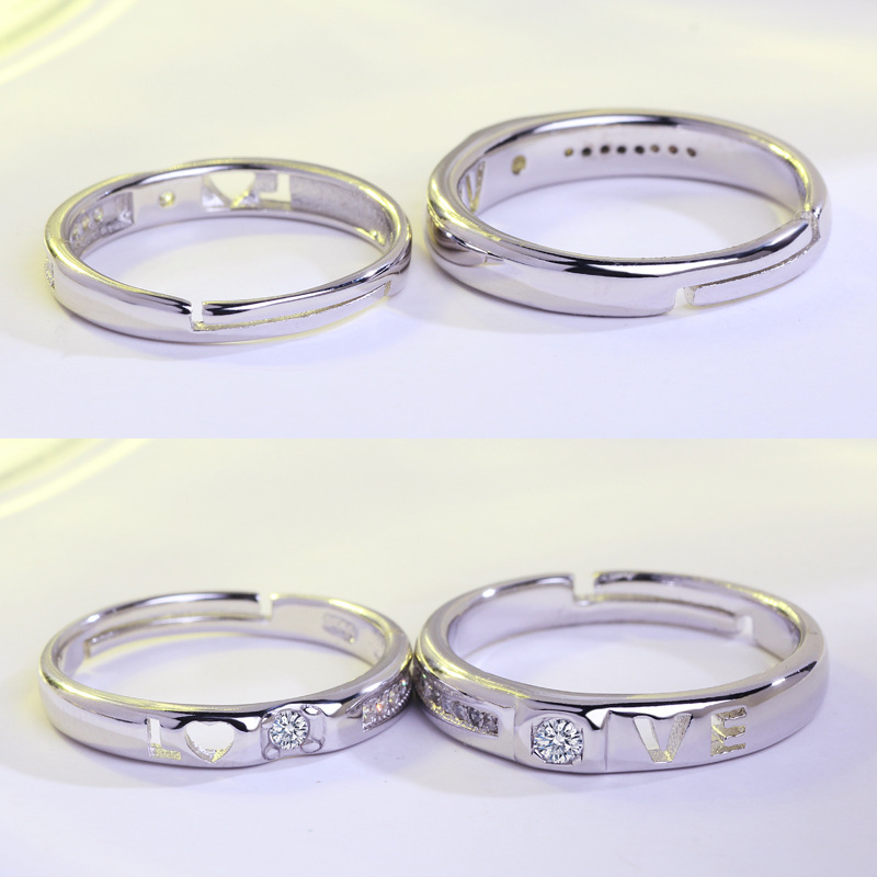 Star Wars Rings I Love You I Know Couple Rings 925 silver Lovers Ring Valentines Day Gift Best Present Promise Ring jz17