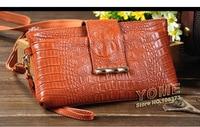 мода картины крокодила клатчи фрист слой из натуральной кожи конфеты цветов женщины сцепления посланник плечо мини сумки, сл-85