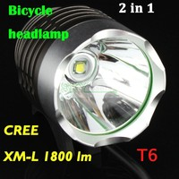 1800 люмен кри XML T6 светодиодный vaccine спорт велосипед фары лампа далеко Funk свет с 6400 мА 8.4 в батареи и зарядное устройство