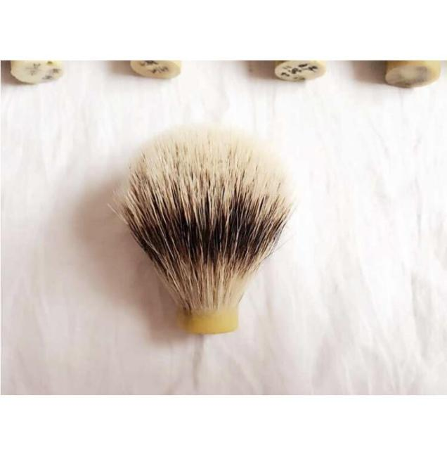 Slivertip Badger Hair Shaving Brush.(Inner dia 20MM,Badger hair height 64MM) FH-10160