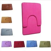 2pcs/set Non-Slip U shaped Pedestal Rug + Bath Mat Memory Foam Doormat Carpet For Home Hotel Restroom Bathroom Accessories