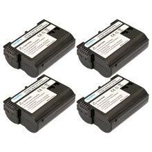 4 Упак. DuraPro Цифровые Батареи EN EL15 EN-EL15 ENEL15 Для Nikon D600 D610 D810 D7000 D7100 D800 D800E D600E d750 V1 MH-25