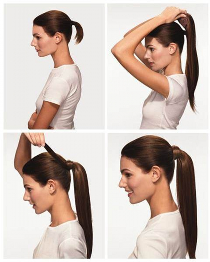 8a Best Quality Virgin Brazilian Hair Kinky Straight Ponytail Human