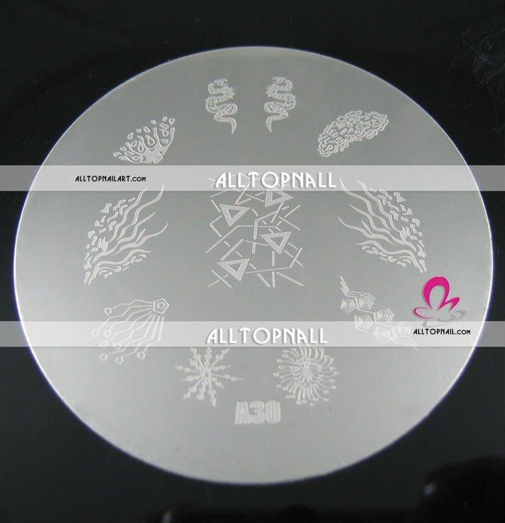 80 шт 7 см ногтей штамповки изображения пластины A_Grade стемпинг для украшения ногтей пластины изображения