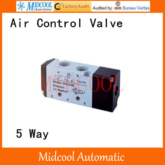 4A230-06 Pneumatic air valve Port 1/8 inch BSP 5 way control valve time electric valve ac110v 230 3 4 bsp npt for garden irrigation drain water air pump water automatic control systems