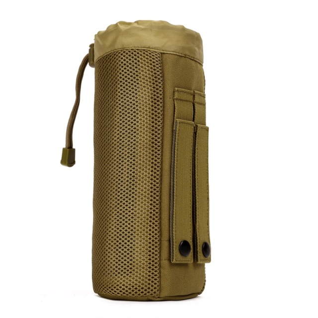 MOLLE System Waterproof Large Water Bottle Pocket Holder Drawstring Pouch Bag Army Durable Nylon Pocket  B