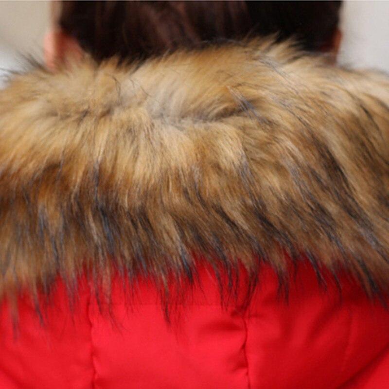 Las mujeres Capa de la Chaqueta Acolchada  Nueva Sección Largo Invierno de la Mujer Cuello de Piel gruesa Capa de la Chaqueta de Costura Fina Delgada Femenina Parkas LH389