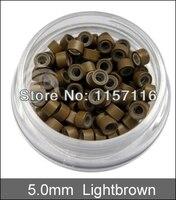 500 шт./лот кремния микро бусины для наращивания волос 4 цвет свет коричневый / черный / / белый, бесплатная доставка