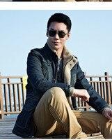 мужчины пальто зима мужская одежда мужской утолщение ватки hoode джинсы теплая куртка шорты верхней одежды Wet мужчины россия д230