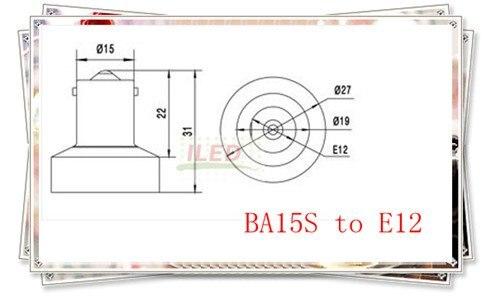 Spl-093-l4) 50 шт./лот BA15S к E12 адаптер огнезащитных PBT E11~ Ba15s держатель лампы адаптер cfl лампочки