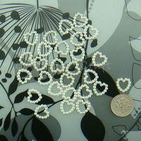 бесплатная доставка 1000 жемчужина цвета слоновой кости в форме сердца бусины свадьба скрапбукинг украшения ремесло 1 см