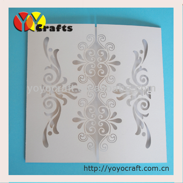 Laser cut greeting cardslaser cut handmade best wishes paper printed service for the insert paper of invitation card thecheapjerseys Image collections