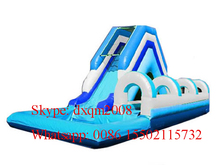2016 Hot inflatable water sports game inflatable water slide with pools, pool water slide amusement park