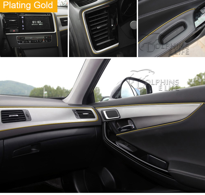 5m car interior mouldings strips decorative thread trim brand sticker 5m car styling. Black Bedroom Furniture Sets. Home Design Ideas