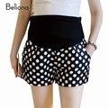 Lunares moda de verano pantalones cortos con alta cintura embarazo Clohtes para mujeres embarazadas más tamaño adelgazan pantalones de maternidad