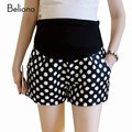 Summer Fashion Polka Dot Maternity Shorts with High Waist Pregnancy Clohtes for Pregnant Women Plus Size Slim Maternity Pants