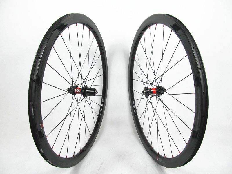 Competitive price Far Sports FSC38CM-23 carbon cx bike wheels clincher UD glossy , <font><b>DT</b></font> 240s <font><b>hub</b></font> 9*100/10*135mm , 28H/28H
