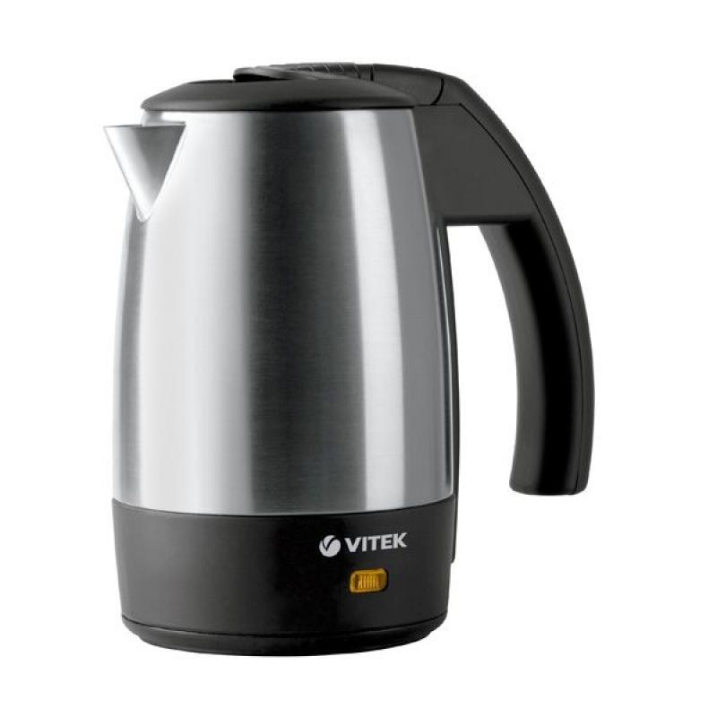 Travel kettle Vitek VT-1154 SR (heat-resistant glass casing, volume 0.5 l, power 1000 W, 2 cups included) home appliance