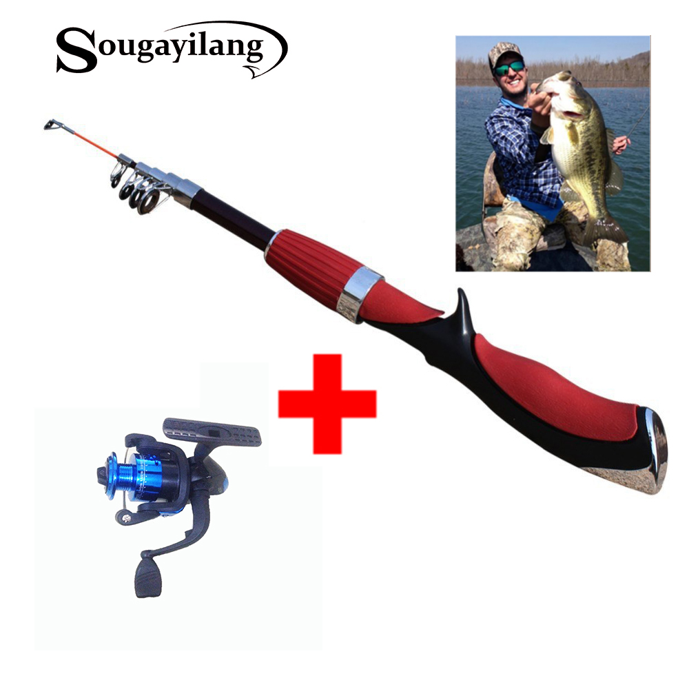 Buy sougayilang ice fishing rod and fly for Fly fishing with spinning rod
