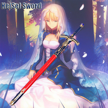 Cosplay Fate Stay Night Fate Zero Saber Arturia Pendragon Caliburn Sword Japanese Anime Steel Katana Real Weapon