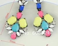 2016 кристалл серьги мода нескольких - цвет ломтик бренда е122 женщины