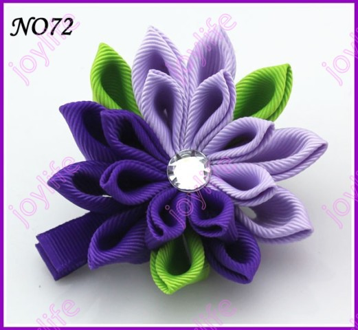 "24 "" шт цветок канзаши заколки для волос катушка для значка заколки для волос для девочек заколки для волос"