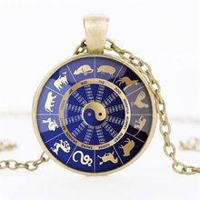 New Fashionable Stylish Chinese twelve hieroglyph zodiac sign picture wedding or birthday gift locket necklace(China)