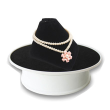 Electrical Rotating Display Stand Turntable Black velvet base for Jewelry cell phone watches Collect promotion or display