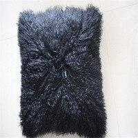 Natural White Decorative Tibetan Mongolian Sheep Lamb Fur Throw Pillow Real Fur Sofa Furniture Car Back