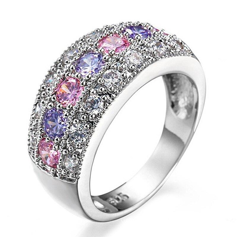 2017 ÚJ anel feminin CZ kristály gyűrűk nőknek Esküvői 925 - Divatékszer - Fénykép 4