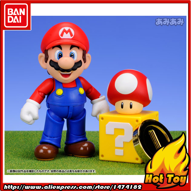 100% Original BANDAI Tamashii Nations S.H.Figuarts (SHF) Action Figure - Mario from Super Mario Brothers lacywear шарф shf 45 lad