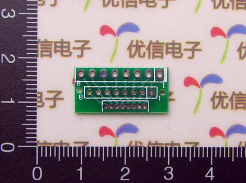 Free Shipping!!! electronic 2pcs 1.27MM 2.0MM 2.54MM 8-pin / adapter for wireless module