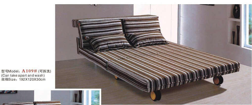 sofa a109 sofa bed with wheels in living room sofas from rh aliexpress com Sofa Wall Bed Wood Sofa Bed