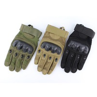 New Brand Tactical Airsoft Military Paintball Shooting WarGame Climb Army Carbon Hard Knuckle Full Finger Gloves