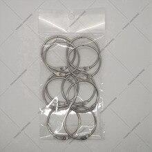 Производитель прямых AliExpress продажи хорошо уплотнительное кольцо 10 шт./упак. висячие кольца никелирование коллекция кольцо книга кольцо