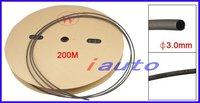 3 мм диаметр черный теплоусаживающ термоусадочной трубки 200 м