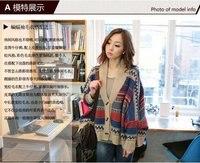 бесплатная доставка-новинка, топы для женщин, женская кардиган свитер с ди Recover с Заголовок пла, рукава летучая мышь