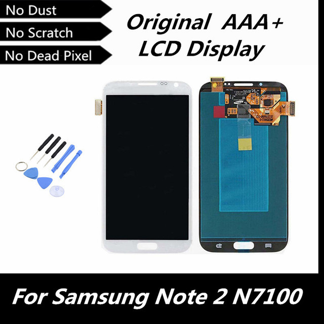 100% Tested Working Original LCD Screen for Samsung Galaxy Note 2 N7100 N7105 T889 i317 i605 L900 LCD Digitizer Assembly