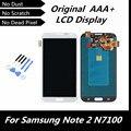 100% testado trabalhando tela LCD Original para Samsung Galaxy Note 2 N7100 N7105 T889 i317 i605 L900 LCD digitador assembléia