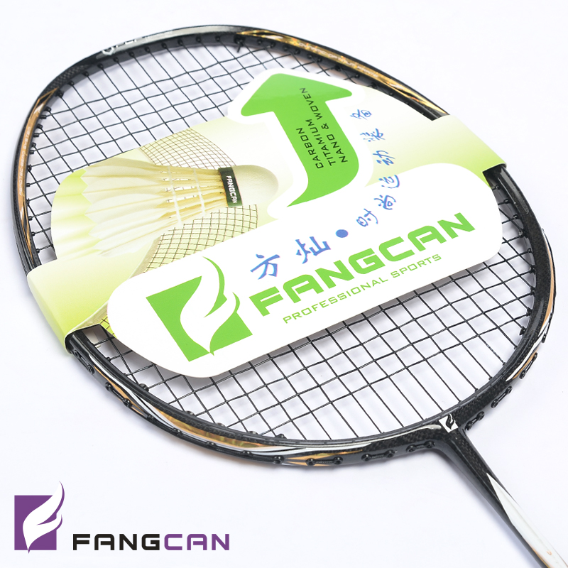 ФОТО 5pcs FANGCAN N90III nano ultralight professional badminton racket with string and cover for offensive and defensive players