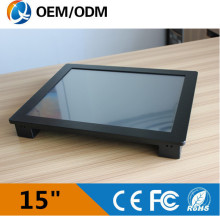 embedded PC 15″ i3 CPU 1.9GHz industrial panel pc Resolution 1024*768 Linux 1*RJ45 2*COM Installation desktop/wall hanging