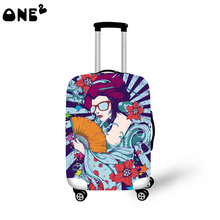 ONE2 Design Hot sale luggage cover spandex, colorful suitcase cover for girls,luggage protective cover