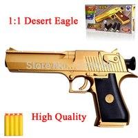 Desert Eagle Toy Gun Armas Pistola Nerf Gun Packed Box Soft Shell Bullet 15M Children Kids