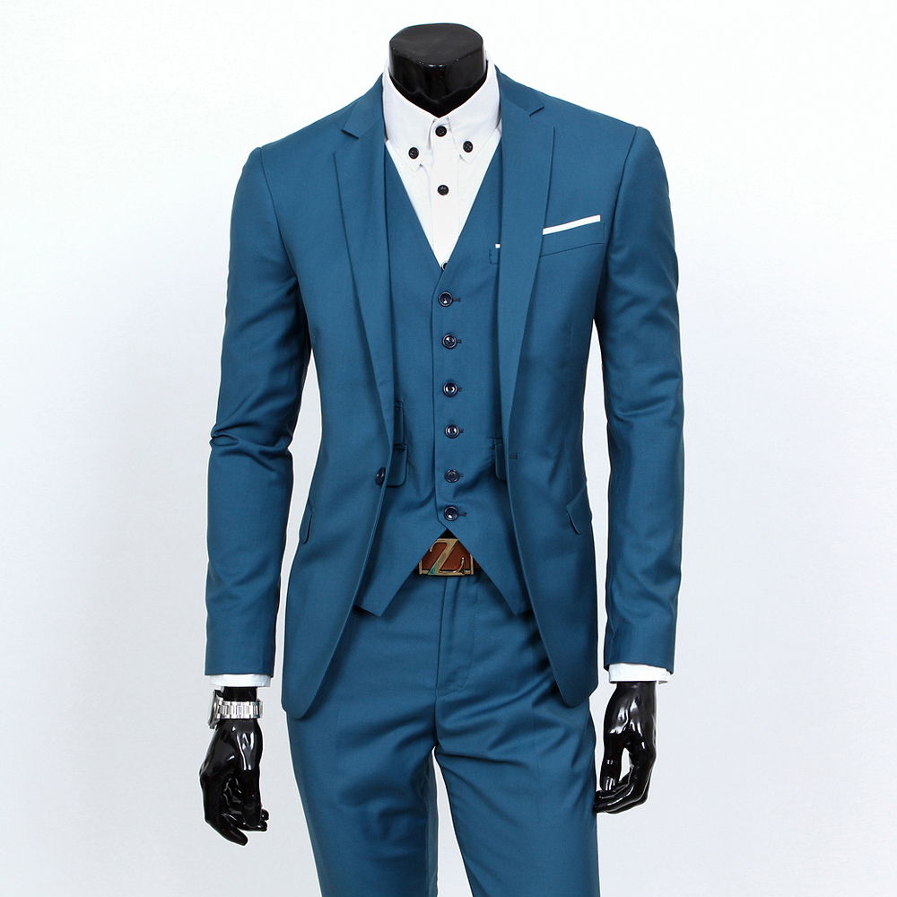 2017 New Male Suits Single Button Brand Suits Jacket Dress Men Suit ...