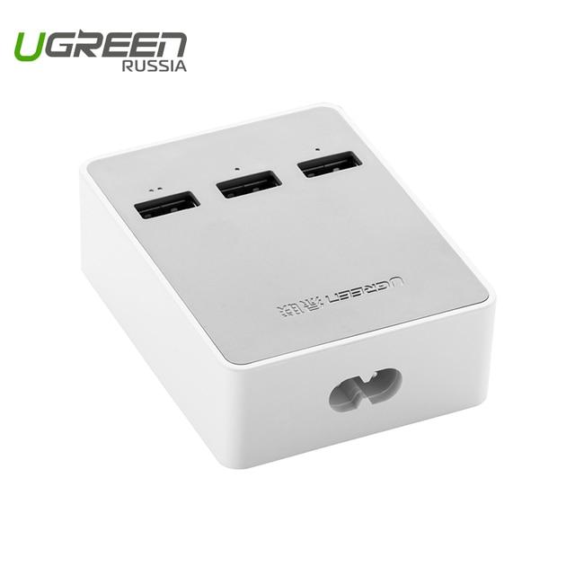 Ugreen USB wall charger universal travel charger 5V4A EU UK Plug 3 port mobile phone smart charger for Xiaomi LG