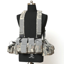 ACU Chest Harness with mangazine Pouch Multicam Chest rig Gunner Kit Split Front Chest Rig