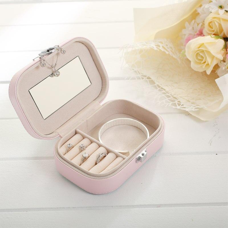 Caja de almacenamiento de joyería de PU de color caramelo Caja de - Organización y almacenamiento en la casa - foto 4