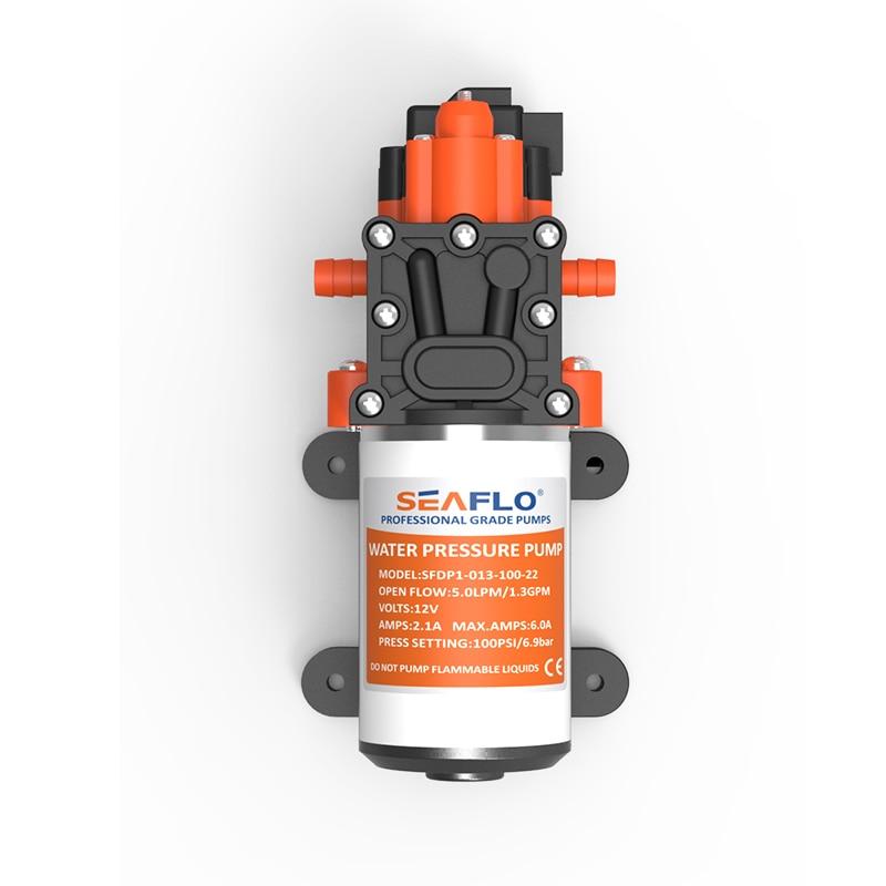 2019 New Arrival Water Pump 12V SEAFLO 1 3GPM 100PSI Automatic Diaphragm Pump Pressure