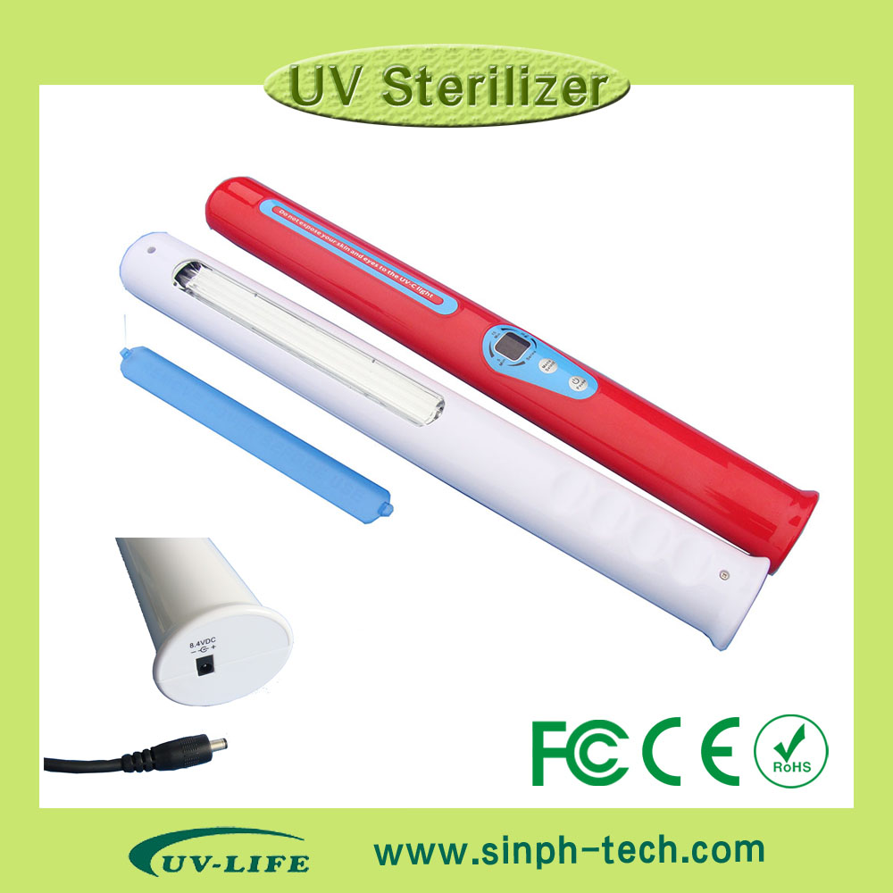 Hot sell UV light sanilizer for clothes sheet wardrobe juice etc. with one more replacement UV lamp bulb hot sell 10 unit black light stage uv light uv lamp e40 400w hqv400 laser dancing hand shadow dance for theater party concert